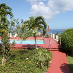 Sunset Ridge Villas-Vacation-Rental-Townhomes-Pathway-to-Community-Pool-St John-USVI